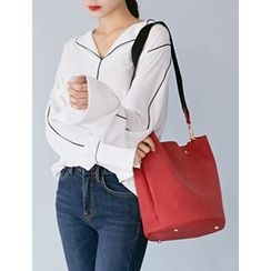 FROMBEGINNING - Faux-Suede Crossbody Bag