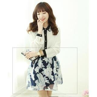 Dodostyle - Floral Print Mini Skirt