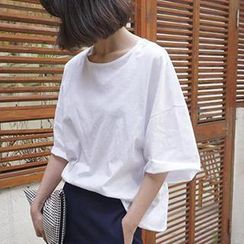 Eva Fashion - Elbow-Sleeve T-Shirt