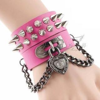 Trend Cool - Spike Padlock Bracelet