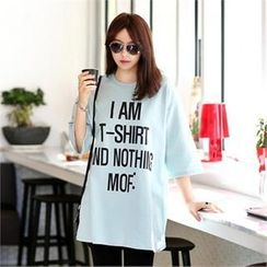 Jcstyle - Loose-Fit Lettering-Print Top