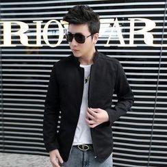 Alvicio - Stand Collar Zip Jacket