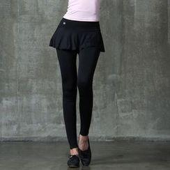 Lissom - Inset Miniskirt Gym Pants