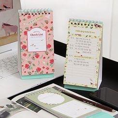 Full House - INDIGO - Floral Spring Desktop Foldable Calendar (Small)