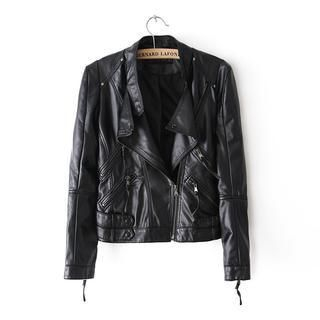 LULUS - Faux-Leather Biker Jacket