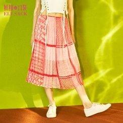 妖精的口袋 - 趣味印花半身裙