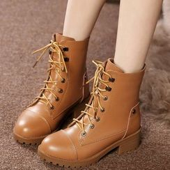 ZOHOUR - Genuine Leather Short Boots