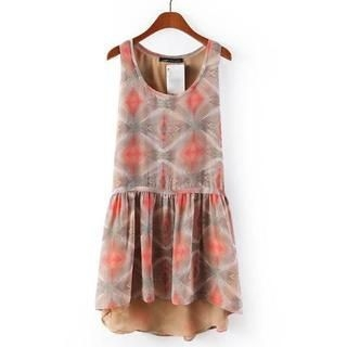 JVL - Sleeveless Patterned Chiffon Dress