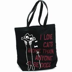 "SCOPY Cotton Twill Tote Bag - ""I Love Cats More Than Anyone Else Does"""