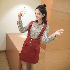 Sienne - Set: Striped Shirt + Jumper Dress