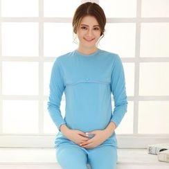 Kream - Maternity Set: Nursery Top + Under Pants