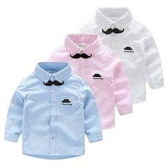 WellKids - Kids Long-Sleeve Embroidered Shirt
