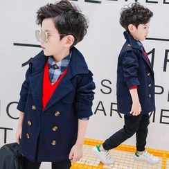 Pegasus - Kids Double-Breasted Trench Coat