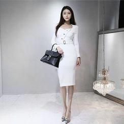 Gl.bY - Long-Sleeve Sheath Dress