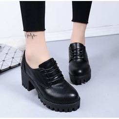 Simply Walk - Lace-Up Chunky Heel Platform Shoes