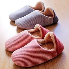 Kawa Simaya - Stripe Panel Couple Slippers
