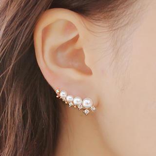 soo n soo - Faux Pearl Earring (Single)
