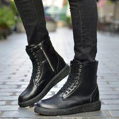 HANO - 仿皮繫帶靴