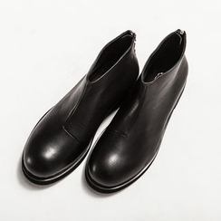 Ashen - Genuine-Leather Ankle Boots