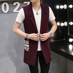 Keerme - Notched-Lapel Single-Button Long Vest