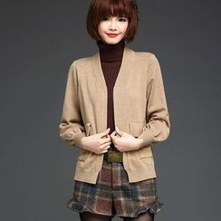 LANA - Plain Puff-sleeve Cardigan