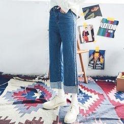 AiAi Bear - Wide leg Jeans