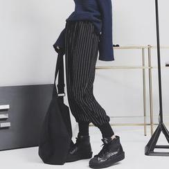 Sonne - Striped Wool Harem Pants