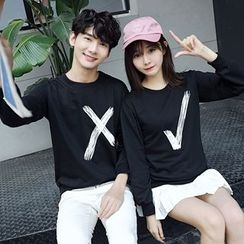 Je T'aime - Couple Matching Printed Pullover