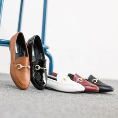 VIVIER - Pompom-Detail Patent Loafers