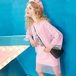 ELF SACK - 3/4-Sleeve Printed Dress + Long-Sleeve Dress