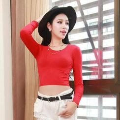 Miss Aries - Long-Sleeve Cropped T-Shirt