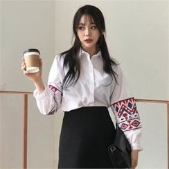 QNIGIRLS - Embroidered Patterned Shirt