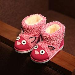 綠豆蛙童鞋 - 小童動物貼布繡雪靴