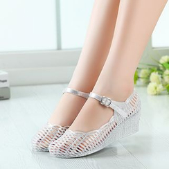 Creamy Blue - Peforated Wedges
