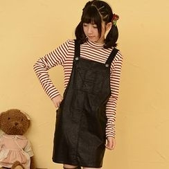 Moriville - Faux Leather Jumper Skirt