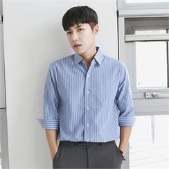 MITOSHOP - 3/4-Sleeve Stripe Shirt