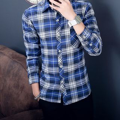 Sheck - Long-Sleeve Plaid Shirt