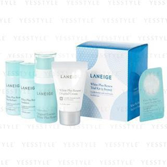 Laneige - White Plus Renew Trial Kit (5 items): Essence 10ml + Refiner 15ml + Emulsion 15ml + Cream 10ml + Pack 3ml