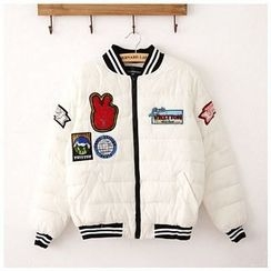 Maymaylu Dreams - 铺棉外套。休閒配色棒球外套