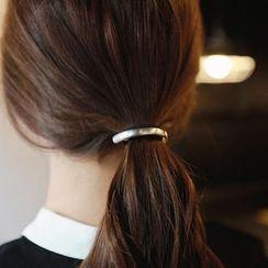 Gold Beam - Metal Bar Hair Tie