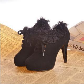 Amy Shoes - Lace-Up Platform Ankle Boots