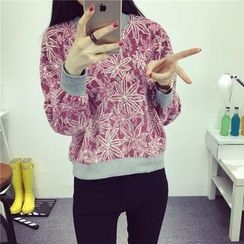 Bloombloom - Cropped Floral Pullover