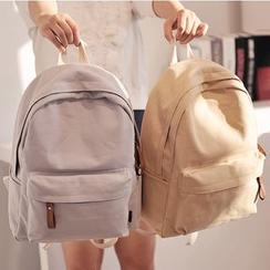 Bianka - Plain Canvas Backpack