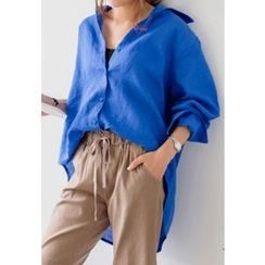 REDOPIN - Plain Linen Shirt