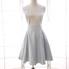 Reine - 纯色背带裙子