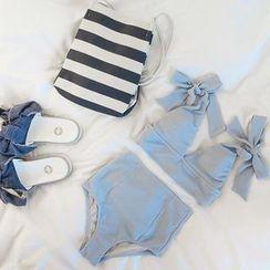 LANYI - Plain 2-piece Swimsuit