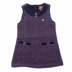 CURLYSUE Sleeveless Tweed Dress