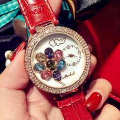 Nanazi Jewelry - Rhinestone Strap Watch