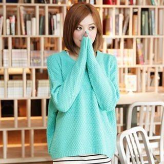 Tokyo Fashion - Waffle-Knit Sweater