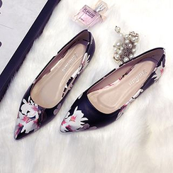 Zandy Shoes - Floral Pointy Flats